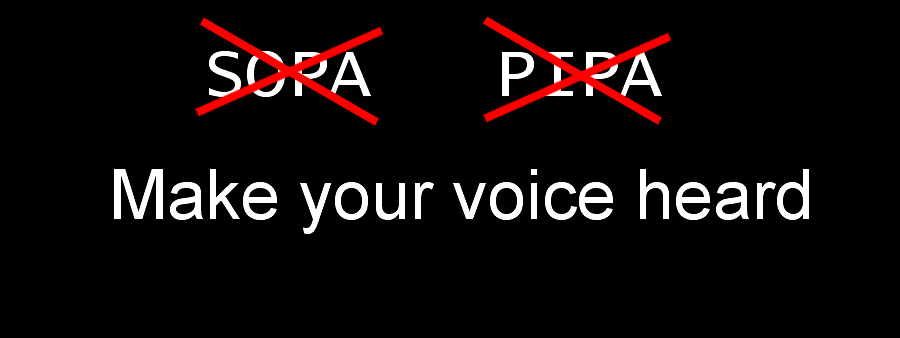 "Tell your congress person to vote ""no"" on PIPA and SOPA"